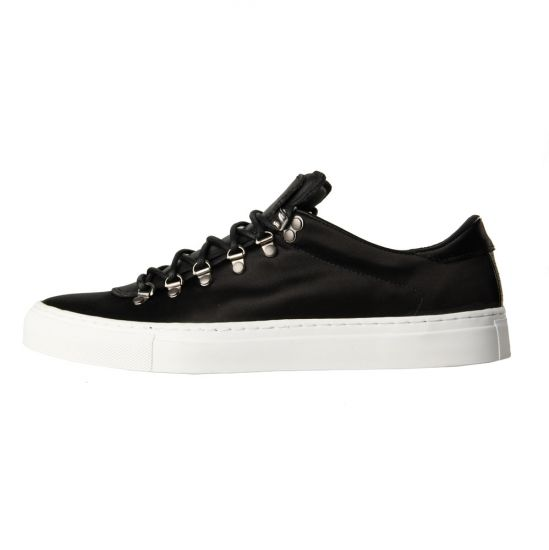 Diemme Marostica Low Trainers in Black Silk