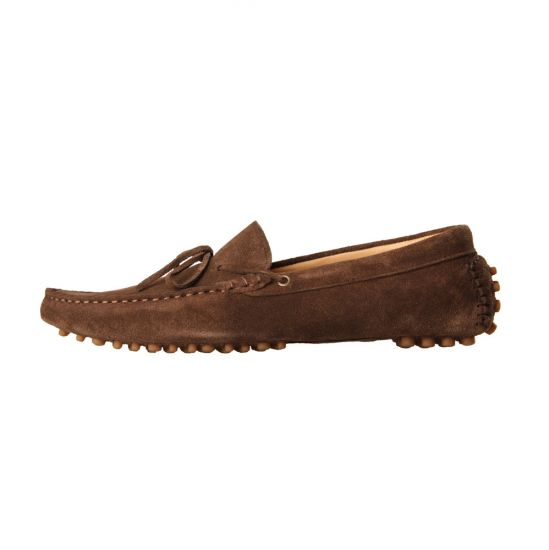 H By Hudson Ricardo Driver in Brown Suede