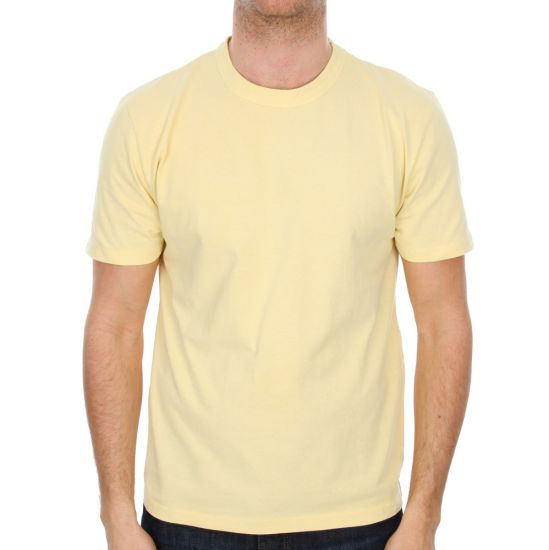 Our Legacy T Shirt in Faded Yellow Perfect 1157PTFY