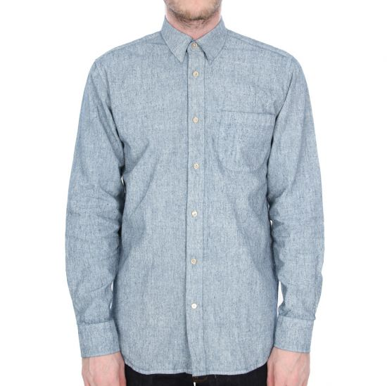 Our Legacy Shirt Coated White Chambray Generation