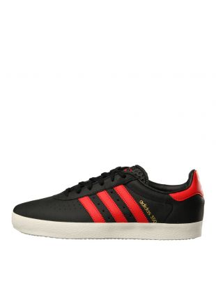 adidas Originals 350 Trainers CQ2771 in Black/Red