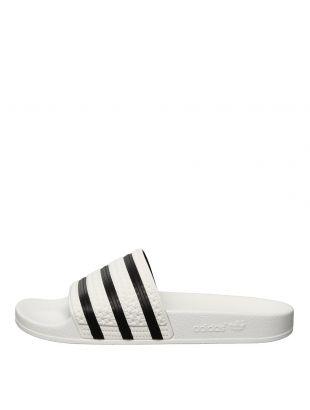 adidas Adilette Slide 280648 White / Black / White
