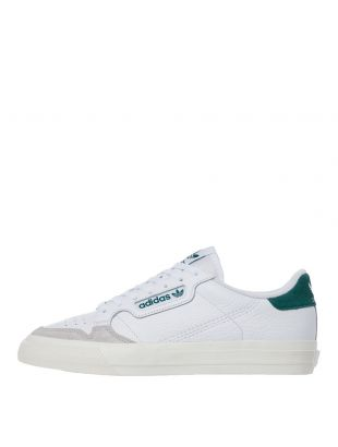 adidas Originals Continental Vulc Trainers | EF3534 White / Green