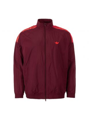 adidas track jacket flamestrike DU8132 maroon