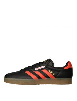 adidas Originals Gazelle Super Trainers CQ2797 Black / Scarlet