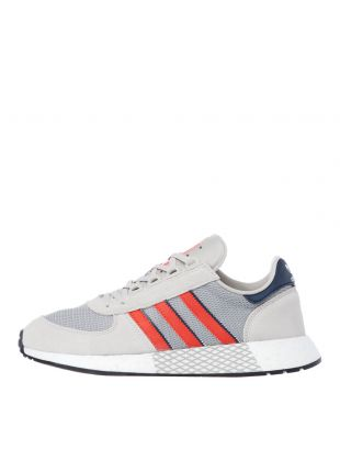 adidas Originals Marathon Tech Trainers | EE4917 Raw White / Grey / Red