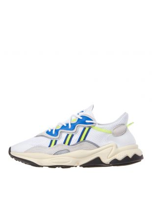 adidas Ozweego Trainers EE7009 White / Grey / Solar Yellow