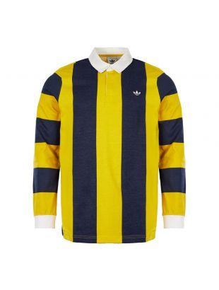 adidas Originals Rugby Shirt | DU7853  Navy / Yellow