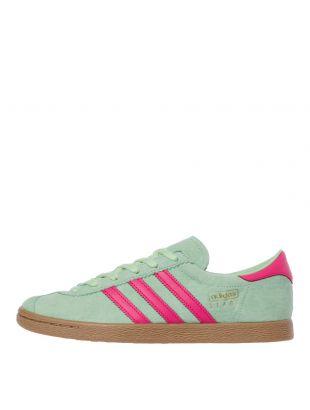 adidas Originals Stadt Trainers | EE5726 Green / Pink
