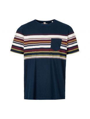Albam T-Shirt ALM611461219 002 Navy Buren Stripe Pocket