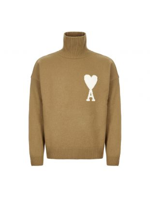 Ami Polo Neck Jumper H19K203 018 250 Beige