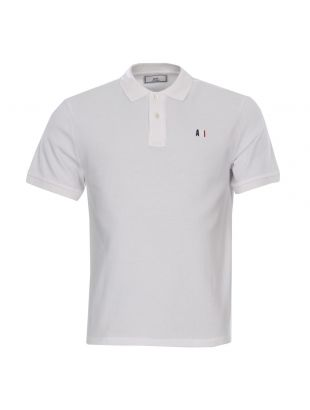 Ami Polo Embroidered BSRJ20078 100 White