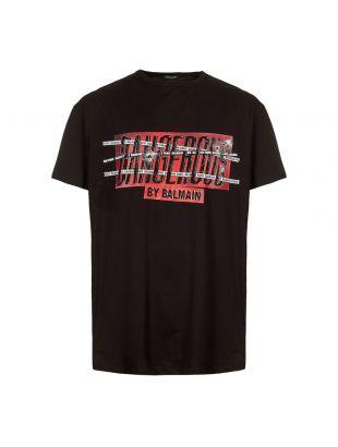 Balmain T-Shirt Dangerous RH01060I150 AAA Black