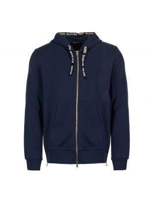 balmain hoodie RH03843J928 6UB marine