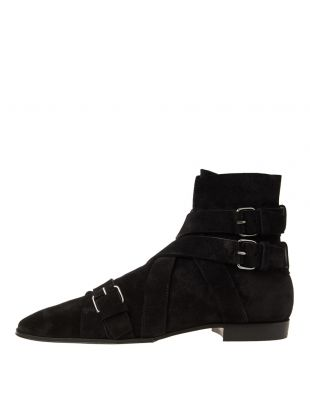 Balmain Boots Jack Ankle RM1C001LCWE 0PA Black Suede