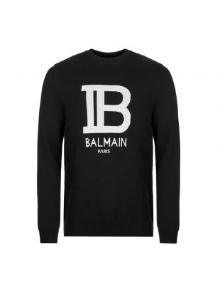 Balmain Sweater | SH03207K171 EAB Black / White