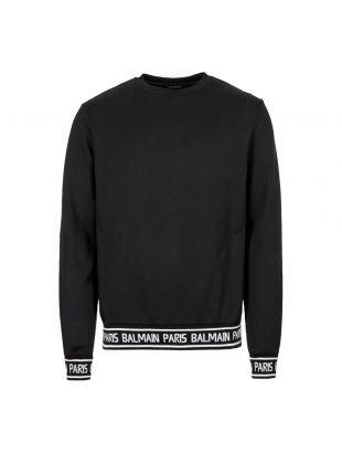 Balmain Sweatshirt Tape | SH13253J928 OPA Black | Aphrodite