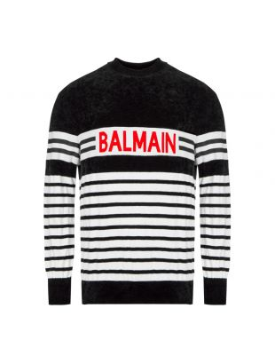 Balmain Jumper SH13762K004 EAB Black / White Striped