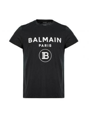 Balmain T-Shirt Logo SH0601|192 0PA Black Aphrodite