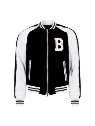 Balmain Jacket Teddy SH18223Z221 EAB Black / White