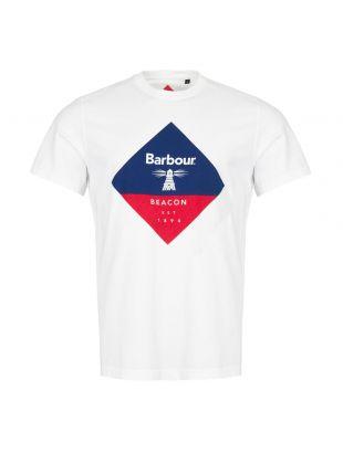 barbour beacon t-shirt diamond MTS0474 WH11 white