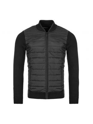 Barbour International Baffle Zip Top MKN0937|BK31 Black At Aphrodite Clothing