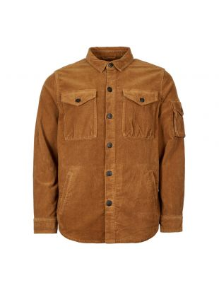 Barbour Beacon Askern Overshirt MOS0055|YE74 In Tan At Aphrodite Clothing