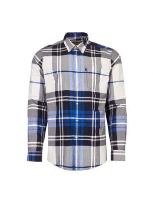 barbour shirt highland 2 MSH4418 BL24 electric blue