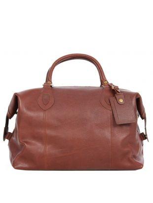 Barbour Bag Brown Leather Travel Explorer UBA0008BR