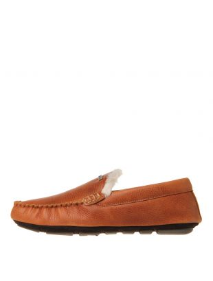 Barbour Monty Leather Slippers MSL0001 TA5 in Tan