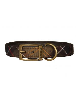barbour dog collar UACO112TN11 green tartan