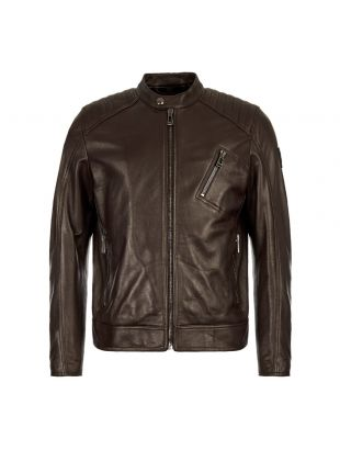 Belstaff Leather Jacket | 71020730 L81N0553 60018 Dark Brown