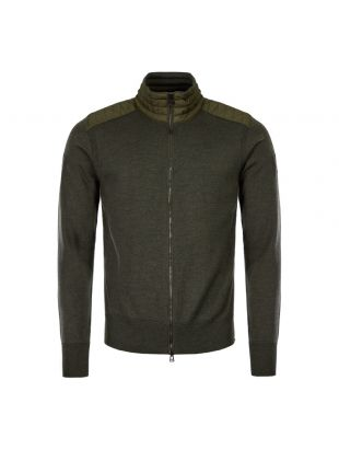 Belstaff Cardigan Kelby Zip 71160095 K67A0031 20117 Dark Military Green