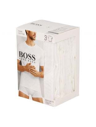 Hugo Boss Black T-Shirt 3 Pack 50325388100 In White