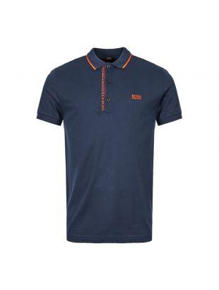 BOSS Athleisure Polo Shirt 50399185 415 Navy / Orange