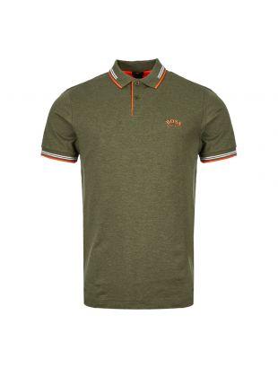 Athleisure Polo Shirt – Green / Orange