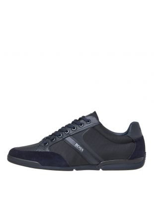 boss saturn lowp lux trainers 50407672 401 dark blue