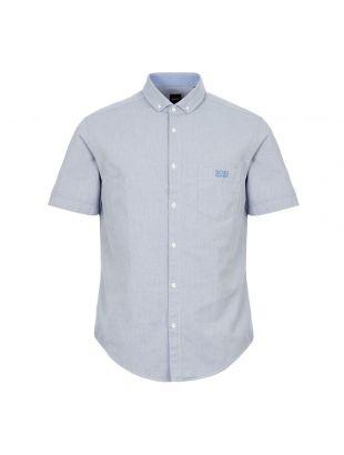 boss athleisure short sleeve shirt buxty r 50415424 423 blue