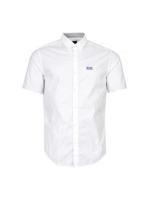 BOSS Athleisure Short Sleeve Shirt 50408874 100 In White