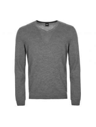 BOSS Athleisure Knitted Sweatshirt 50413721 031 Grey