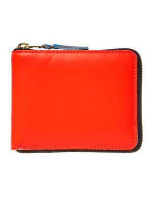Comme des Garçons Super Fluo Zip Wallet SA7100SF ORG Orange