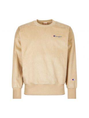 Champion Corduroy Sweatshirt 213690|MS024|SPG  In Beige At Aphrodite1994.