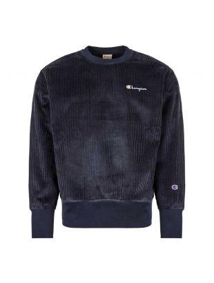 Corduroy Sweatshirt - Navy