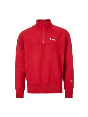 Half Zip Sweatshirt - Red