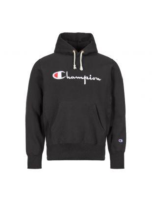 Champion Hoodie Script Logo 212574 KK001 NBK Black