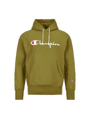 Champion Hoodie Script Logo 212574 GS543 ODB Green