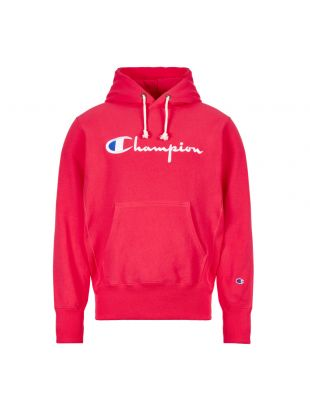 Champion Hoodie Script Logo 212574 PS061 AZA Pink