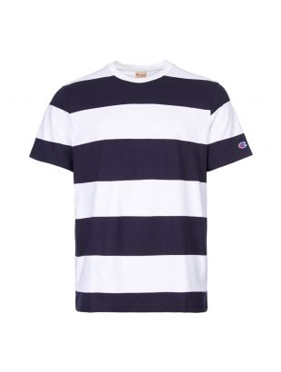 Champion T-Shirt 212991 BS501 NNY/WHT In Navy / White