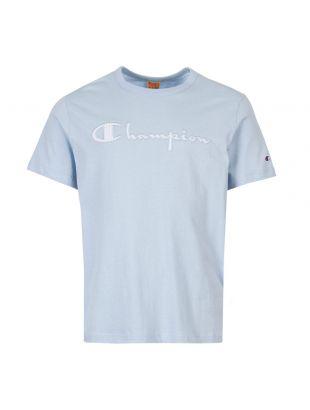 Champion T-Shirt Script Logo 213081 BS009 Blue