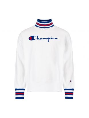 Polo Neck Sweatshirt - White